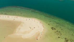 Console tropical com praia arenosa Palawan, Filipinas video estoque