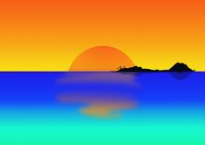 Console tropical no crepúsculo Fotografia de Stock