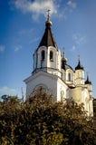 Console Valaam Vista da igreja Imagem de Stock Royalty Free