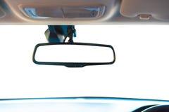 Console van de close-up toont de binnenlandse moderne auto met volledige voorruit SP stock fotografie