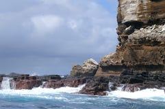 Consoles e mar de Galápagos Foto de Stock