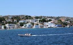 Consoles gregos Ilha de Leros O melhor destino do turista fotografia de stock royalty free