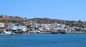 Consoles gregos Ilha de Pserimos O melhor destino do turista fotos de stock