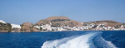 Consoles gregos Ilha de Pserimos O melhor destino do turista Imagem de Stock Royalty Free