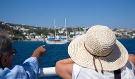 Consoles gregos Ilha de Pserimos O melhor destino do turista fotos de stock royalty free