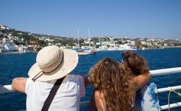 Consoles gregos Kalymnos porto O melhor destino do turista no Mar Egeu fotografia de stock royalty free