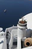 Consoles gregos - Santorini (Fira) Imagens de Stock Royalty Free