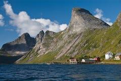 Consoles Noruega de Lofoten Imagens de Stock Royalty Free