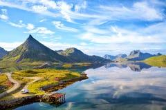 Consoles Noruega de Lofoten foto de stock royalty free