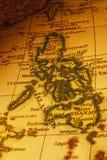 Consoles velhos de Filipinas do mapa Fotos de Stock Royalty Free