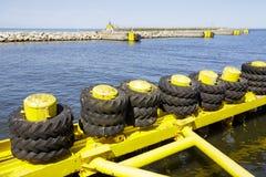 Consolidación de la infraestructura del puerto en Kolobrzeg Imagen de archivo libre de regalías