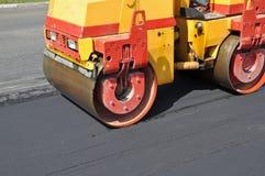 Consolidación del asfalto Fotos de archivo libres de regalías