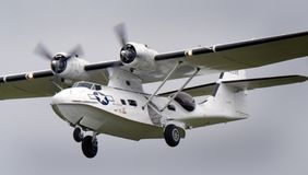 Consolidated Catalina PBY at Scampton air show on 10 September, 2017. Lincolnshire active Royal Air force base. Royalty Free Stock Image