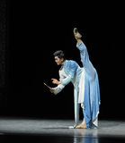 Consolidatiemuziek de score-prelude van de gebeurtenissen van dans drama-Shawan van het verleden Stock Foto