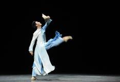 Consolidatiemuziek de score-prelude van de gebeurtenissen van dans drama-Shawan van het verleden Stock Foto's