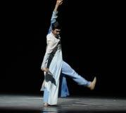 Consolidatiemuziek de score-prelude van de gebeurtenissen van dans drama-Shawan van het verleden Stock Fotografie