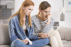 Consoling friend, holding hands Royalty Free Stock Images