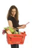 Consommateur dans le supermarché photographie stock libre de droits