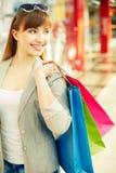 Consommateur joyeux photo stock