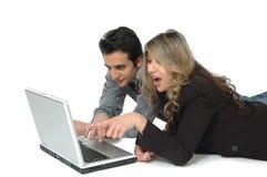 Consommateurs en ligne Images libres de droits