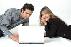 Consommateurs en ligne Image libre de droits