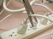 Consommation d'énergie de découpage Photos stock