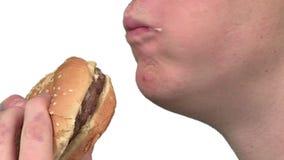 Consommation d'un hamburger clips vidéos