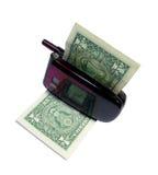 Consommation de l'argent Image stock