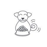 Consommation de la ligne icône de chien illustration libre de droits