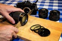 Consommation de la photographie Photo stock