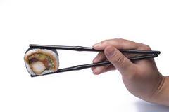 Consommation des sushi Photos libres de droits