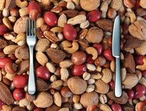 Consommation du concept Nuts Image libre de droits