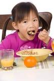 Consommation du déjeuner Photo libre de droits