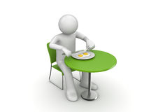 Consommation du déjeuner délicieux Photo stock