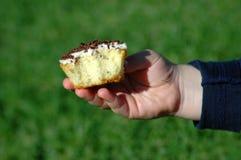 Consommation du gâteau Photographie stock libre de droits