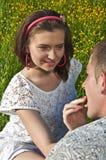 Consommation heureuse de couples Image libre de droits