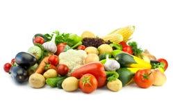 Consommation saine/assortiment des légumes organiques Photographie stock libre de droits
