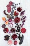 Consommation saine avec la nourriture d'anthocyanine Image stock