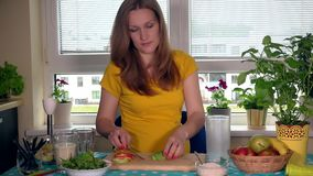 Consommation saine, cuisson, nourriture végétarienne, nutrition de grossesse et concept de personnes clips vidéos