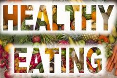 Consommation saine - fruits et légumes Photographie stock libre de droits