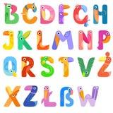 Consonants of the Latin alphabet like different birds Stock Photo