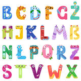 Consonants of the Latin alphabet like different monsters Stock Photo