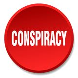 Conspiracy button. Conspiracy round button isolated on white background. conspiracy vector illustration