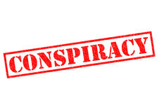 CONSPIRACY. Red Rubber Stamp over a white background Stock Photos