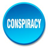 Conspiracy button. Conspiracy round button isolated on white background. conspiracy royalty free illustration