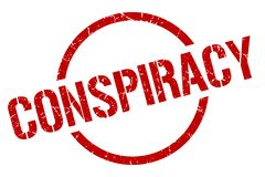 Conspiracy stamp. Conspiracy round grunge stamp. conspiracy sign. conspiracy royalty free illustration