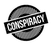 Conspiracy rubber stamp. Grunge design with dust scratches. Effects can be easily removed for a clean, crisp look. Color is easily changed Royalty Free Stock Images