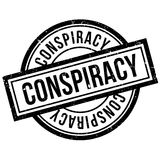 Conspiracy rubber stamp Stock Photo