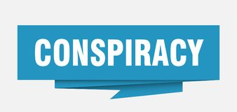 Conspiracy. Sign.  paper origami speech bubble.  tag.  banner vector illustration