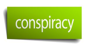 Conspiracy sign. Conspiracy square paper sign isolated on white background. conspiracy button. conspiracy royalty free illustration